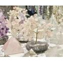 Roosa kvarts kristallipuu ametüst kobaral