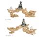 Küünlaalus puuoksal, Buddha kujuga