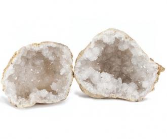 Kaltsiit valge geood paaris