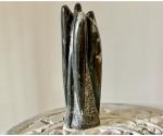 Fossiil Ortotšeras mustas marmoris kuju 1